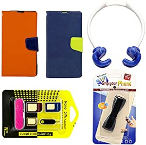 Mify Mobile Accessories for Xiaomi Mi 2, Blue & Orange (Pack of 2)