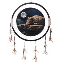 Lisa Parker Quiet Night of the Wolf Dreamcatcher Print 61cm