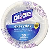 Dixie Heavy Duty Paper Bowls, 35 Count, 10 Ounce