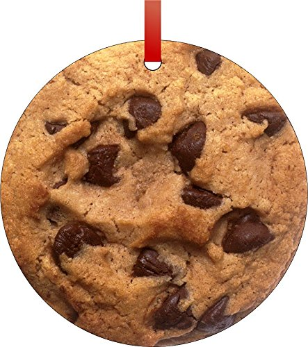 Chocolate Chip Cookie Christmas Holiday Hanging Tree Ornament.