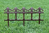 Fence Edging, lawn boarder, landscaping edge - brown, terracotta (Terracotta)