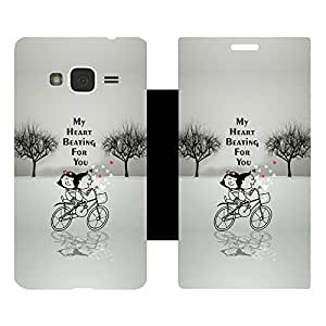 Skintice Designer Flip Cover with Vinyl wrap-around for Samsung Galaxy J3 (2016), Design - Love You