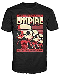 Funko Men's Pop! T-Shirts: Star Wars - Stormtrooper Empire, Black, X-Small