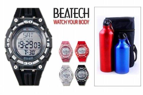 Cheap Sopra Beatech BH5000B FL55 Beatech Heart Rate Monitor-Alarm clock-Stopwatch-Countdown Timer Watch with Aluminum Camping Bottle Set (Beatech BH5000B + FL55)