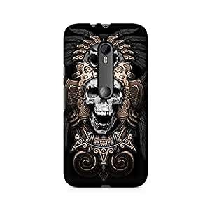 Mobicture Skull Art Premium Printed Case For Moto X Play