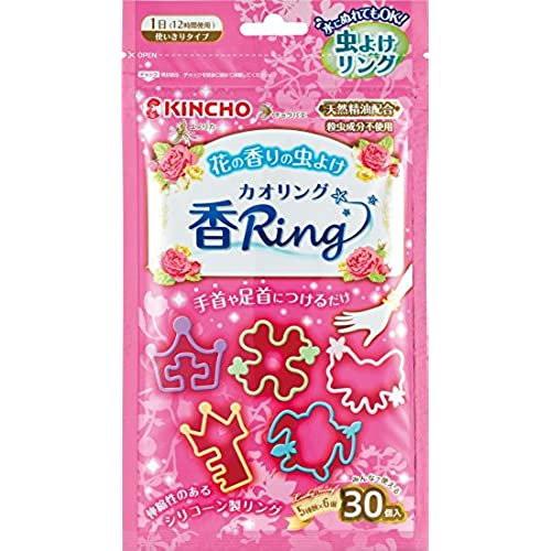 무시요케 링 방충제 향기 링 핑크 30개입 (천연 정유 배합 살충 성분 불사용)