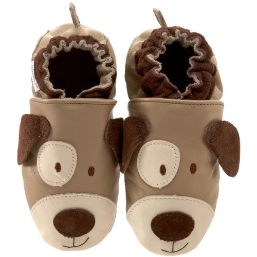 Robeez Soft Soles 3D Puppy Crib Shoe (Infant/Toddler),Hound Dawg,12-18 Months (4.5-6 M US Toddler)