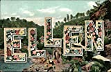 ELLEN Names Original Vintage Postcard