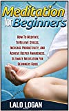 Meditation For Beginners: How To Meditate To Relieve Stress, Increase Productivity, And Archive Deeper Awareness. Ultimate Meditation For Beginners Guide ... Meditation For Dummies, Meditation Books)