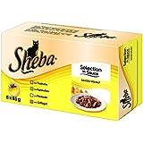 Sheba Selection in Sauce Katzenfutter Saucen-Vielfalt, 32 Schalen (4 x 8 x 85 g)