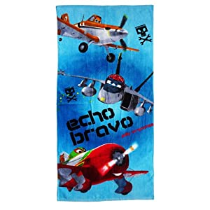 Disney Pixar Planes Childs Beach / Swim Towel Echo Bravo