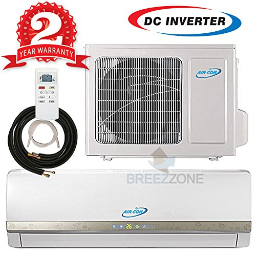 18000 Btu Ductless Mini Split DC Inverter Air Conditioner Heat Pump System 208-230 Volt with 16ft Line Set (18000 Btu) (Dc Air Conditioner No Inverter compare prices)