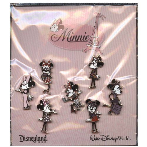 Disney Pin - Minnie Mouse - Paris Fashion Glamour 7-Pin Set - Pin Set 90812