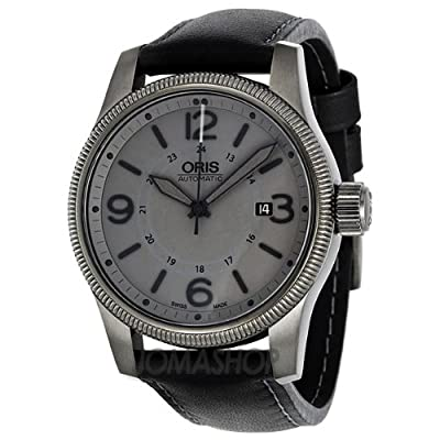 Oris Men's 73376294263LS Big Crown Black Leather Strap Watch from Oris