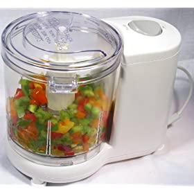 Saachi SA 1240 - Mini Food Chopper / Food Processor with Auto Shut Off Safety Control Feature. UL Certified