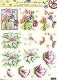 Die Cut Découpage Sheet - Floral JBS39