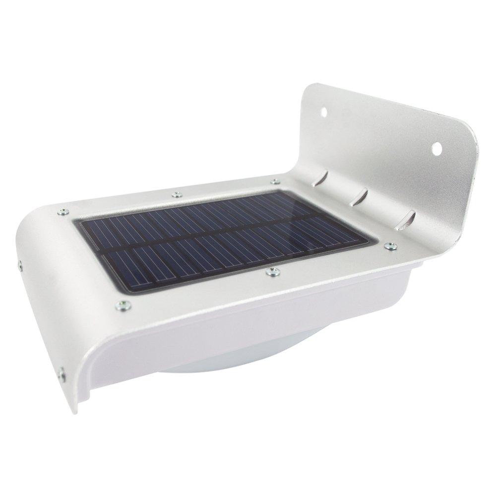 L mpara solar con detector de movimiento para exterior for Lampara solar pared exterior