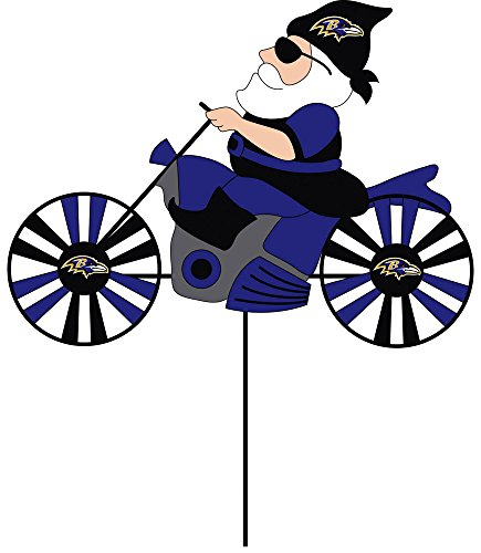 NFL Motorcycle Wind Spinner NFL Team: Baltimore Ravens - 1