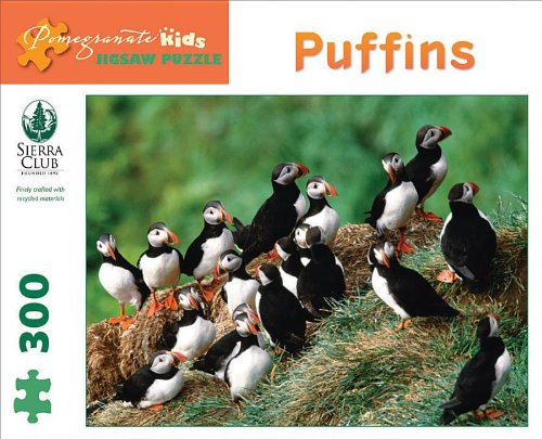 Sierra Club - Puffins: 300 Piece Puzzle (Pomegranate Kids Jigsaw Puzzle)