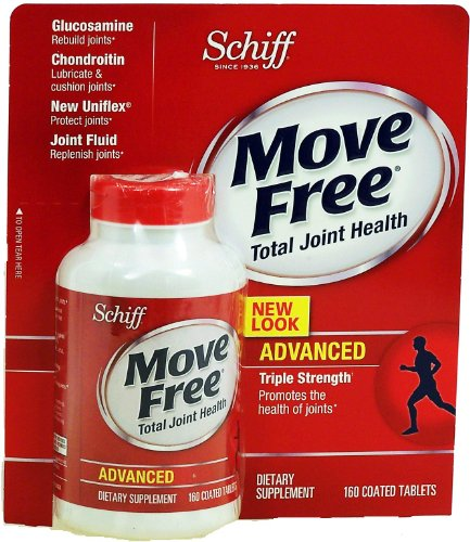 Schiff Move Free Advanced Total Joint Health Dietary Supplement, 160-Coated Tablets