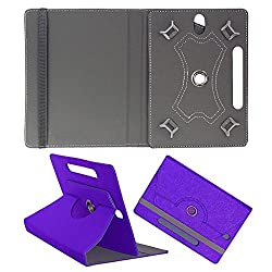 DMP Designer 360 Degree Rotating Leather Flip Case Book Cover With Stand For Lenovo CG Slate Grade K-2 - Dark Blue