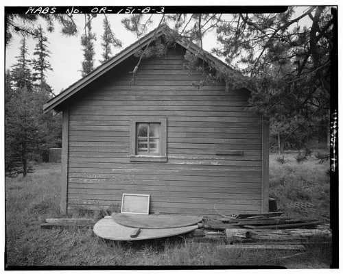 Historic Photo Ditch Creek Guard Station Barn-Storage