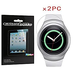 Cikishield-samsung Gear S2 Screen Protector Anti-bubble High Definition-lifetime Replacements Warranty (Clear Tpu Material [2-pack])