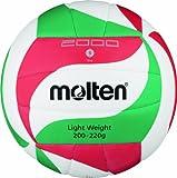 Molten V5M2000-L Ballon de volley-ball Blanc/vert/rouge Taille 5
