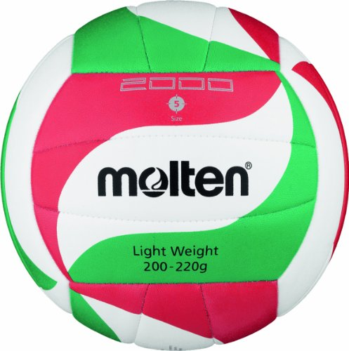 Molten Volleyball V5M2000-L, Weiß/Grün/Rot, 5