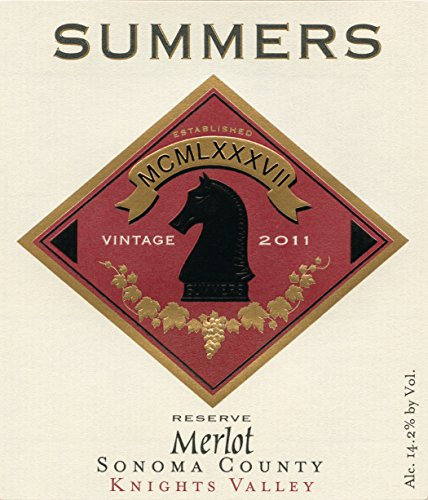 2011 Summers Summers Ranch Reserve Knights Valley Sonoma County Merlot 750 Ml
