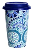 C.R. Gibson IQDMC-14096 Tranquility Iota Double Wall Travel to Go Coffee Cup, Multicolor