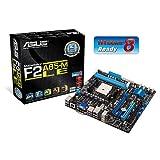 Asus F2A85-M LE Motherboard (AMD A85X FCH, 2x DDR3, S-ATA, Micro ATX, USB 3.0, eSATA, HDMI, DIGI+ VRM, Windows 8 Ready, Socket FM2)