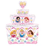 Disney Princess Birthday Cake SuperShape Foil Balloon (uninflated) 1090401