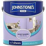 Johnstones No Ordinary Paint Water Based Interior Soft Sheen Emulsion Sweet Lavender 2.5 Litre