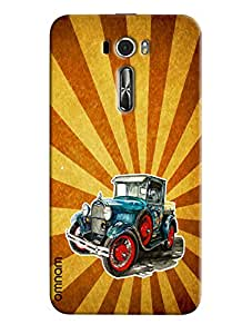 Omnam Vintage Car printed with attractive background for Zenfone 2 (ZE601KL)