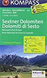 Sextner Dolomiten - Dolomiti di Sesto: Wanderkarte mit Radtouren. GPS-genau. 1:25000 (KOMPASS-Wanderkarten)