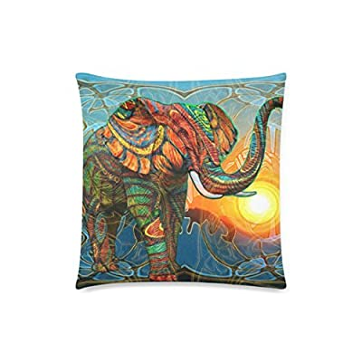 Honey Cushion Cover Aztec Elephant Decorative Pillow Case Protector 18x18 Inch