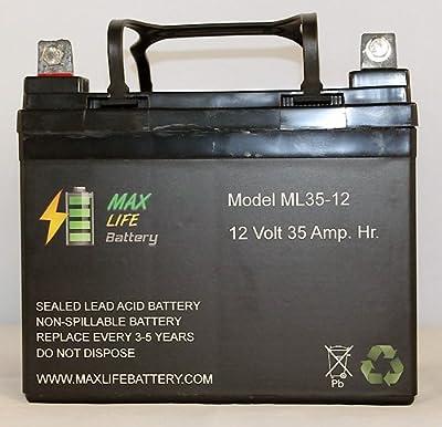 12V 35AH Wilderness Tarpon 100 Kayak Trolling Motor Battery - Max Life Battery brand product