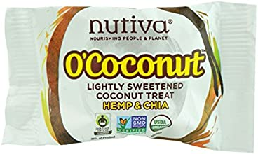 Nutiva O39Coconut Lightly Sweetened Coconut Treat Hemp amp Chia 5 Ounce  Pack of 48