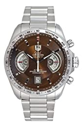 TAG Heuer Men s CAV511E BA0902 Grand Carrera Automatic Chronograph Brown Dial Watch