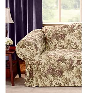 Amazon.com: Sure Fit Stretch Suede Wing Chair Recliner ...  |Amazon Sure Fit Slipcovers