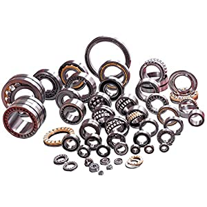 "3/4"" Bearing (Pack - 8), ID 3/4"" x OD 1-3/8"" - Lawn Mower and Wheelbarrows & Carts Wheel Bearing - Marathon# 60611 Flanged Precision Ball Bearing. by XiKe"