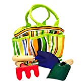 JustForKids Garden Tool Set with Tote ~ G & F