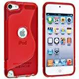 【アウトレット】Apple iPod touch 5 アウトドアスタイルケース (アイポッドタッチ 2012年 第5世代 iPod 5th 対応) Outdoor Style TPU Case ロゴカットデザイン + 液晶保護フィルム1枚【Clear Red(赤)】