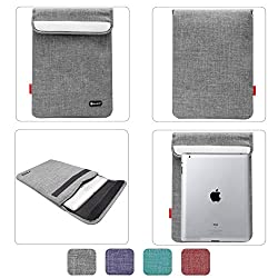 Sheng Beier 11inch Padded Light Weight Sleeve Bag for Apple iPad, Lenovo Tab 2 A7-10, iBall Slide and other 10in Tablets (Grey)