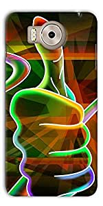 DigiPrints Designer Back Cover for Panasonic Eluga Note-Multicolor