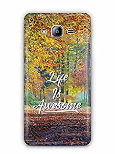YuBingo Life is Awesome Designer Mobile Case Back Cover for Samsung Galaxy On 5 Pro