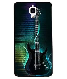 Fuson 2D Printed Music Designer back case cover for Xiaomi Mi 4 - D4547