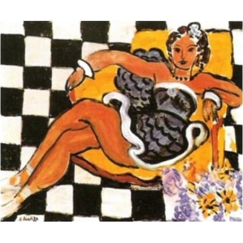 Henri Matisse - Danseuse dans le fauteuil sol en damier - 1942 dans perso 5105G%2B5IVtL._SS500_