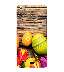 Ester Eggs 3D Hard Polycarbonate Designer Back Case Cover for Micromax Canvas Sliver 5 Q450